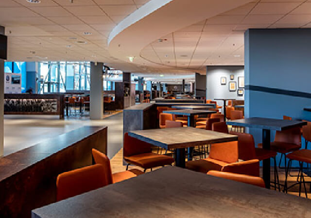 Parador vinyl flooring in the largest hospitality area of the VELTINS Arena