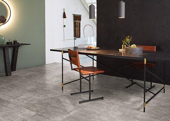 コンクリート調・大理石調の床材とインテリア