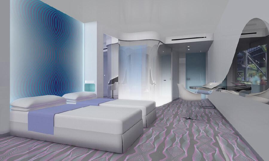 ニューヨークのデザイナー、カリム・ラシッドが、ヨーロッパ初のミュージック・ホテルの総合インテリアを担当